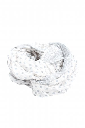 Madonna Snood white-light grey spot pattern casual look