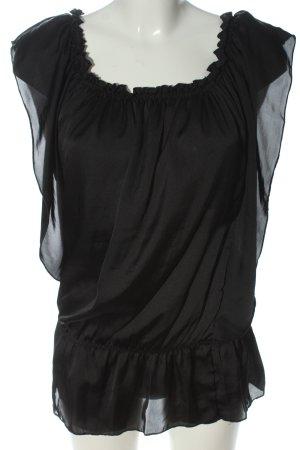 Madonna Schlupf-Bluse schwarz Casual-Look