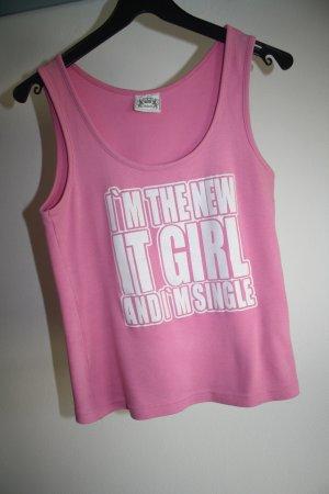 Madonna Shirt / Achselshirt / rose / Gr. M (38) / Sommershirt / Baumwolle / Baumwollshirt / Shirt mit Motiv