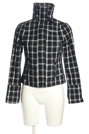 Madonna Veste chemise noir-blanc imprimé allover style décontracté