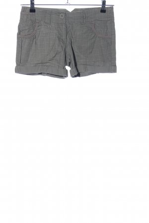 Madonna Shorts light grey-black check pattern casual look