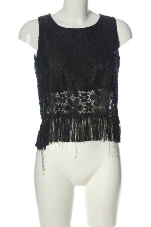 Madonna Koronkowa bluzka czarny W stylu casual