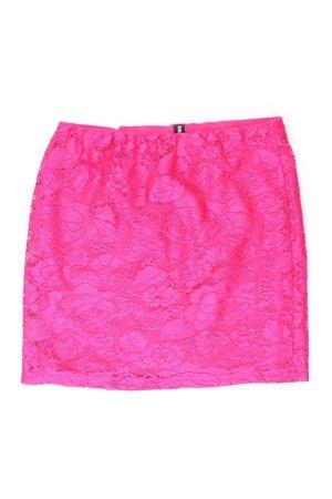 Madonna Falda de encaje rosa claro-rosa-rosa-rosa neón Poliéster