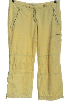 Madonna Pantalone jersey giallo pallido stile casual