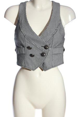 Madonna Gilet tricoté noir-blanc motif rayé style décontracté