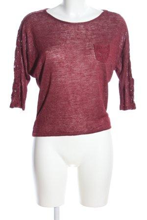 Madonna Sweatshirt rot meliert Casual-Look