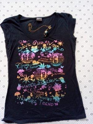 Madonna T-shirt multicolore Cotone