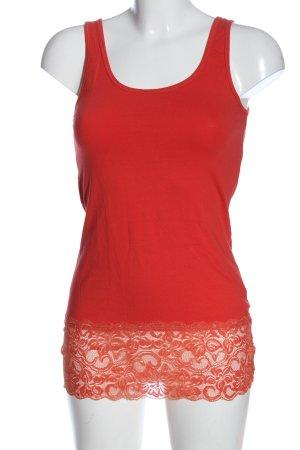 Madonna Camiseta sin mangas rojo look casual