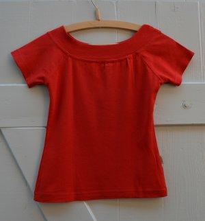 Madonna Top T-Shirt Kurztop Sommer U-Boot-Ausschnitt rot Gr. XS