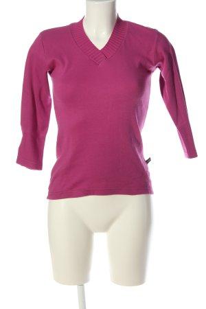Madonna V-Ausschnitt-Pullover pink Casual-Look