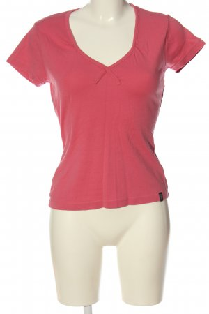 Madonna Camisa con cuello V rosa look casual