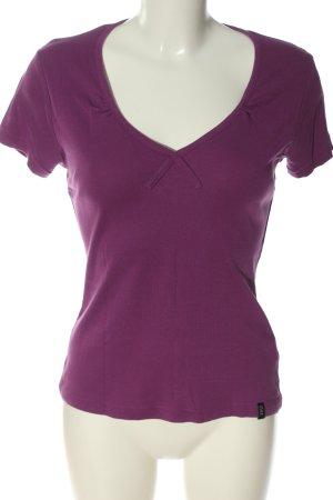 Madonna Camisa con cuello V lila look casual