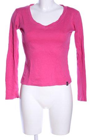 Madonna V-Ausschnitt-Shirt pink Casual-Look