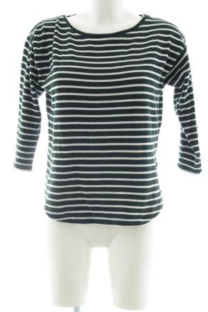 Mads nørgaard Maglione girocollo nero-bianco motivo a righe stile casual