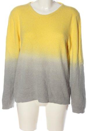 Mads nørgaard Maglione girocollo giallo pallido-grigio chiaro Colore sfumato