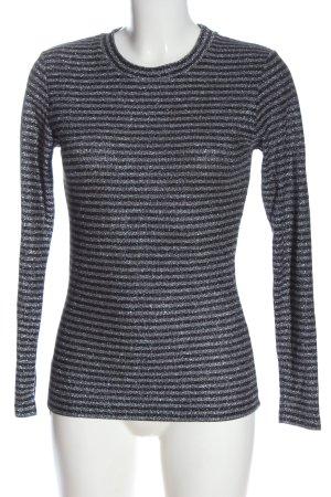 Mads nørgaard Camicia maglia bronzo-argento motivo a righe stile casual