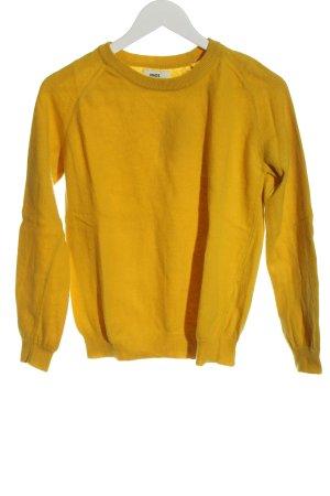 Mads nørgaard Pull en laine jaune primevère style décontracté
