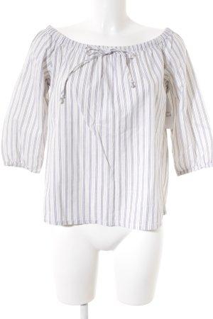 Madwell Kurzarm-Bluse weiß-dunkelblau Streifenmuster