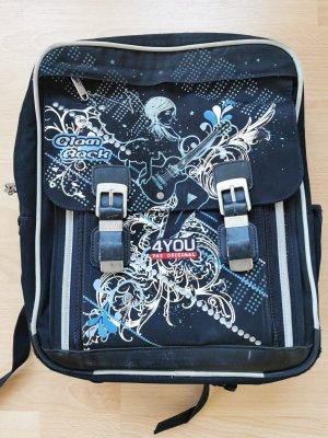 4YOU Schoolrugzak zwart-neon blauw