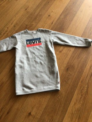 Levis Sweater Dress light grey-silver-colored cotton