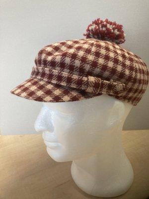 STETSON Cappello in tessuto bordeaux-crema Lana