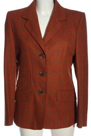 Maendler Blazer en laine rouge motif rayé élégant
