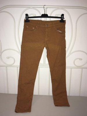 Drainpipe Trousers brown