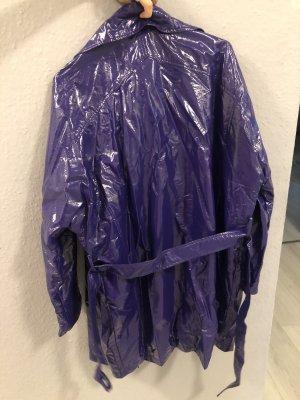 Cappotto stile pilota viola scuro