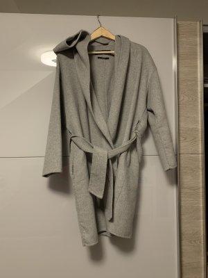 Zara Cappotto con cappuccio grigio chiaro