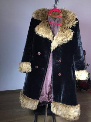 True Vintage Manteau oversized noir-bronze