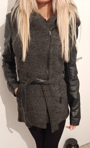 Only Hooded Coat black-anthracite