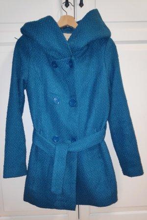 Cache & Cache Winter Coat neon blue polyester