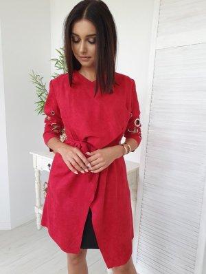 Cappotto in pelle rosso