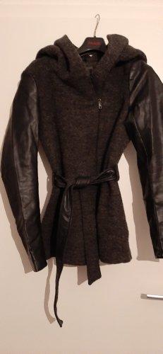 Only Manteau à capuche noir-gris anthracite