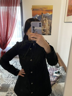 H&M Płaszcz przeciwdeszczowy czarny