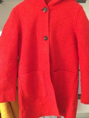 Tom Tailor Manteau à capuche rouge