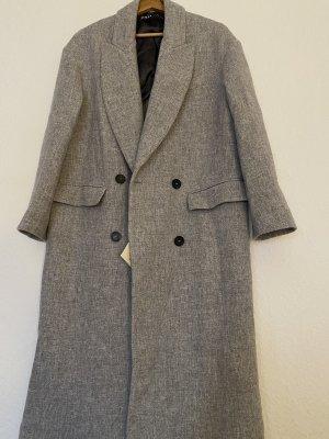 Zara Cappotto in lana grigio chiaro-grigio