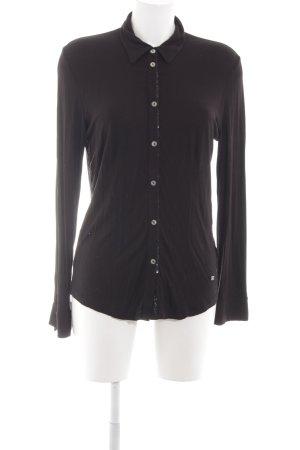 März Langarm-Bluse schwarz Casual-Look