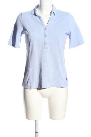 Maerz Muenchen Polo-Shirt blau meliert Casual-Look