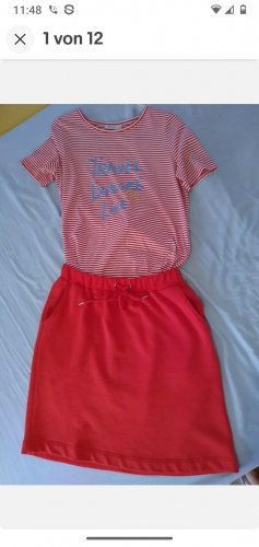 MAERZ MÜNCHEN Roter (CAYENNE) Rock Gr. 36 + T-Shirt: rot-weiß gestr. Gr. 40 *TOP