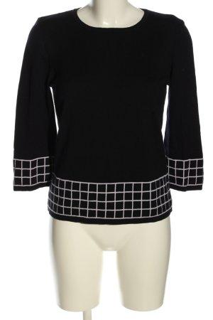Maerz Muenchen Gebreid shirt zwart-wit grafisch patroon casual uitstraling
