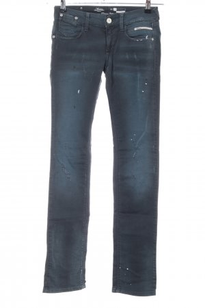 Maestro Straight-Leg Jeans blau Street-Fashion-Look