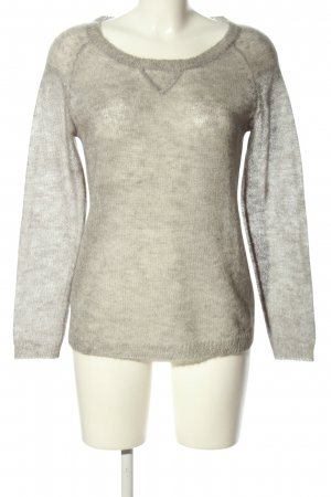 mag*smagasin Rundhalspullover hellgrau meliert Casual-Look