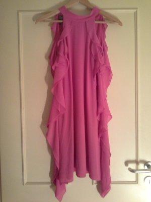 Apart  glamour Chiffon Dress pink-neon pink polyester