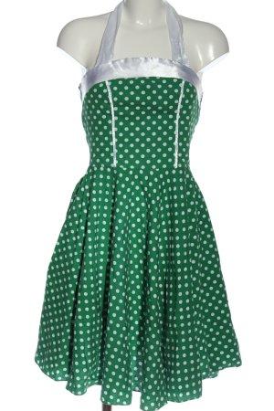 MAGGIE TANG Halterjurk groen-wit gestippeld patroon casual uitstraling
