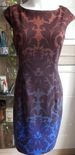 Maggy London Sukienka tunika brązowo-czerwony-stalowy niebieski