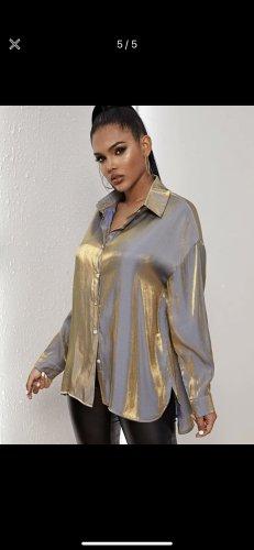SheIn Splendor Blouse gold-colored-blue