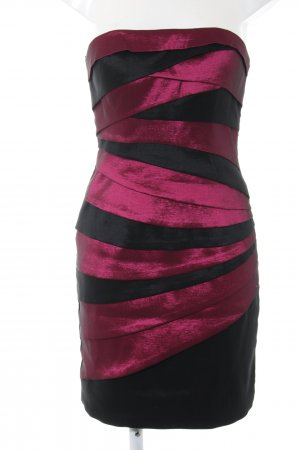 Magic Nights Bandeaukleid schwarz-pink Streifenmuster Elegant