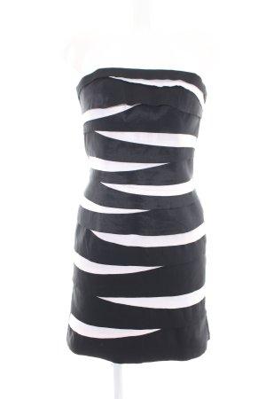 Magic Nights Cocktailkleid weiß-schwarz Streifenmuster Casual-Look