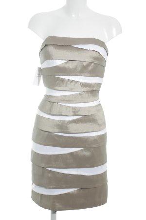 Magic Nights Minikleid beige-weiß Streifenmuster Elegant